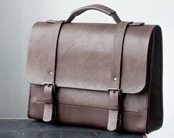Hard briefcase, mens briefcase, leather satchel, leather briefcase, laptop messenger bag, leather crossbody, leather suitcase, shoulder bag