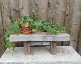 Barn Wood Bench, Rustic Bench, Small Plant Stand, Miniature Wood Table, Bathroom Barnwood Bench, Living Room Book Stand, Children's Bench,