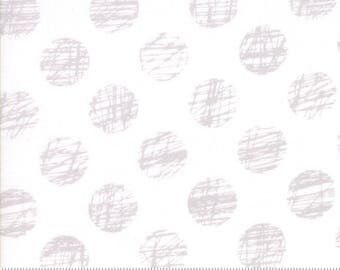 "Moda ""Hey Dot"" by Zen Chic ~ SKETCHED ~ 1604 11 White ~ Half Yard Increments"