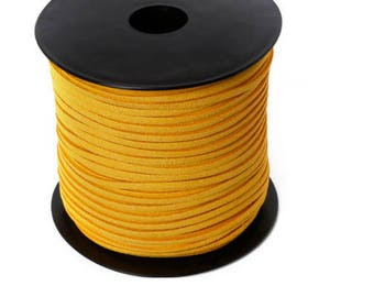 5 Metters look yellow 3 mm suede Ribbon