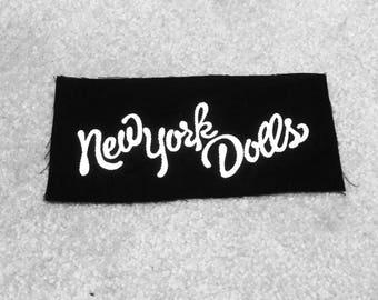 New York Dolls patch