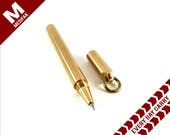 Solid Brass Tactical Gel Pen EDC Carry Tactical Military Pen Men's Minimalist Style Pen Glass Breaker Strike Stylus Spike