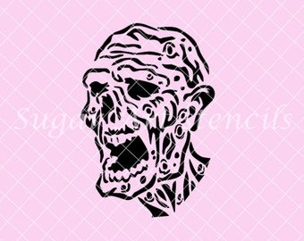 The Walking Dead zombie Stencil Nb1634