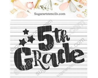 5th grade School cookie stencil NY0149
