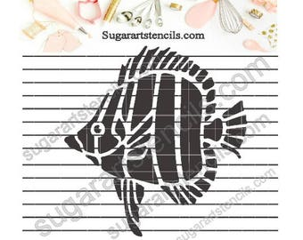 Tropical sea fish cookie stencil Nb1538