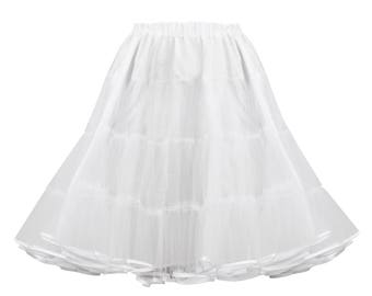 White tulle petticoat, 1950s style petticoat, 3 layers petticoat, full pin up petticoat, tulle underskirt