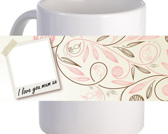 "Personalized ""Mum Polaroid"" Coffee Mug With Custom Printed Photo Name"
