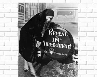 ON SALE Repeal the 18th Amendment - Prohibition - 1927 - Photo - Photography - Print - Protest - Law - Constitution - Beer, Whiskey - Liquor