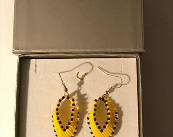 handmade yellow fancy earrings