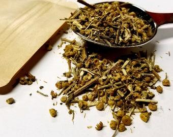 Dried Feverfew (Tanacetum parthenium)