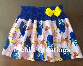 Dory Skirt, Finding Dory Skirt, Skirt With Dory, Dory Birthday Skirt