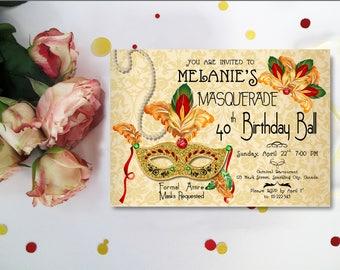 Mardi Gras Mask Invitation, Mardi Gras Masquerade Invitation, Masquerade Theme Invite, Masquerade Invitation, Mardi Gras Invitation digital