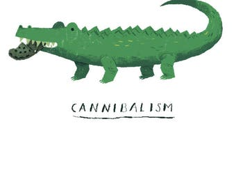 croc cannibalism crocodile T-shirt/ funny croc shirt / cute croc / alligator shirt/ funny animals shirt / croc shoes