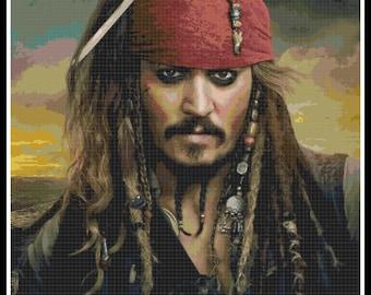 Pirates of the Caribbean Cross Stitch - Jack Sparrow - Disney - PDF Download