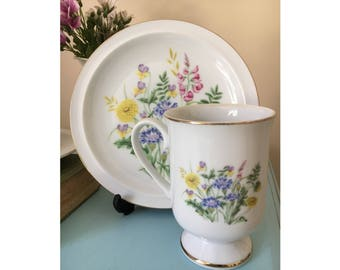 4 piece set Vintage retro kitsch made in japan Spring Garden China Blossom Collection