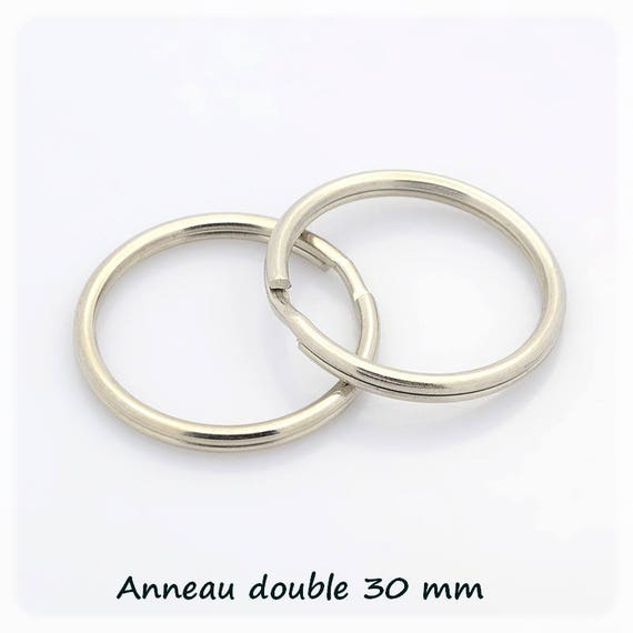 Double ring for Keychain 30 mm silver x 1