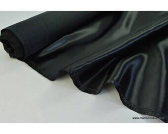 Doublure satin noir polyester premier prix x50cm