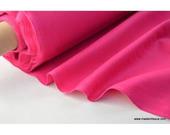 Tissu cretonne coton fuchsia par 50cm