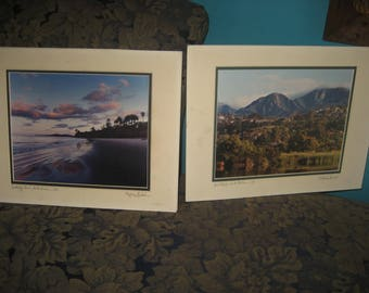 Two Santa Barbara Matted Prints by Photographer Philip Gerlach