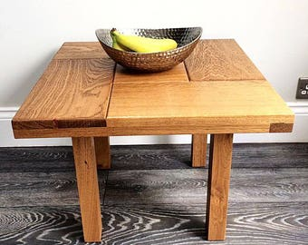 Oak coffee table, coffee table, side table, oak table, lamp stand, wood coffee table