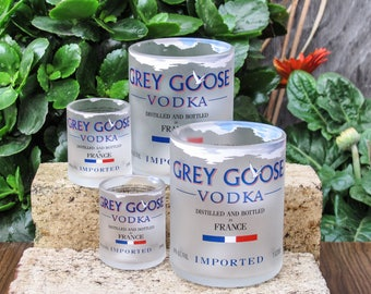 Grey Goose Vodka glasses gift for him vodka shot glasses fun vodka tumblers grey goose gift for husband boyfriend who have everything