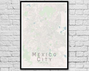 MEXICO CITY Map Print | Mexico City Map Print | Wall Art Poster | Wall decor | A3 A2