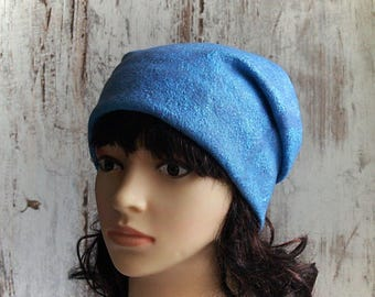 Beanie felted hat light blue. Merino hat light blue. Woolen womens beanie hat. Felt warm hat light blue. Felted women hat. Winter casual hat