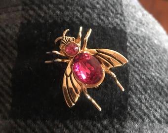 Vintage CORO PEGASUS Bug Brooch Fly Brooch Pin  Book Piece