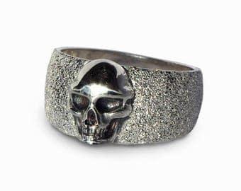 sale 20 off skull ring for men silver skull ring women black - Skull Wedding Rings For Men