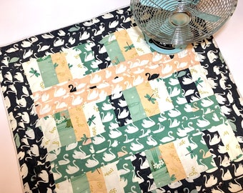 Swan Lake Baby Quilt - Tummy Time Quilt - Infant Quilt