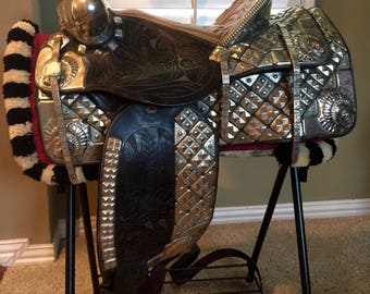 Ted Flowers German silver parade saddle
