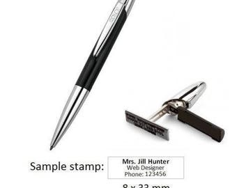 Colop Stamp Writer Exclusive Pen with Personalised Self Inking Stamp 8x33mm