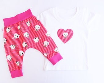 Set baby, baby outfit, set girl, outfit, clothes kids baby, fashion baby, set pink kittens
