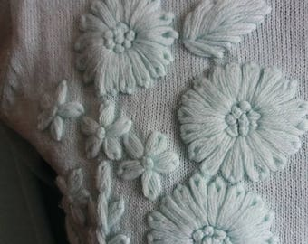 Mint Green 1950s Cardigan Size 10/12 UK
