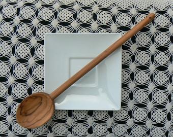 Cooking Spoon Olive Wood - Long Tasting Spoon - Olive Wood Handmade Spoon - Round Cooking Spoon Handcrafted -  Olive Wood Cooking Utensils