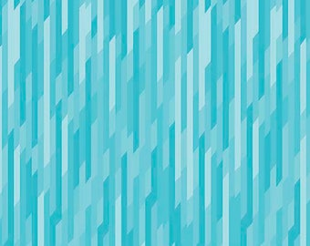 Stretchy Blue or Grey Desert Bloom Stripe Cotton Knit fabric