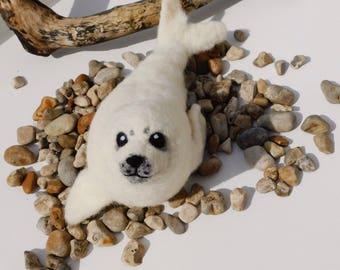 Needle felt Harp Seal pup