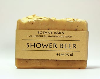 Shower Beer - Beer Soap - Cedarwood and Rosemary Soap, Natural Soap, Handmade Soap, Manly Soap, Exfoliating Soap, Gift for Boyfriend