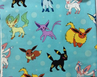 Eeveelutions/Blue Pokemon Snuggle Sack for Hedgehogs, Guinea Pigs, and other small pets!