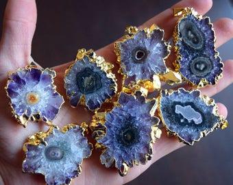 Raw Amethyst Necklaces / Raw Amethyst Necklace / Raw Crystal Necklaces / Raw Crystal Necklace / Amethyst Necklaces / Amethyst Pendants