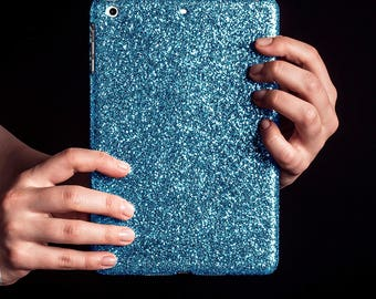Glitter iPad Case for iPad Mini 1-3 - Sky Blue