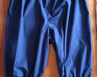 Victorian Edwardian style Bloomers navy/black pants capris, pijamas/knickers/drawers pirate costume, sizes 4-30