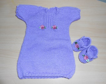 1 month baby booties with tunic dress