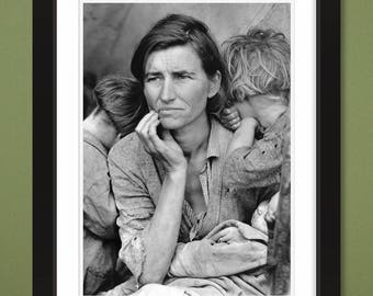 Migrant Mother by Dorothea Lange 1936 (12x16 Heavyweight Art Print)