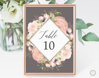 Wedding Table Numbers, Table Numbers, Gold Table Numbers, Rustic Wedding Decor, Table Number Cards, Gold Table Numbers, Boho Wedding, #PPS