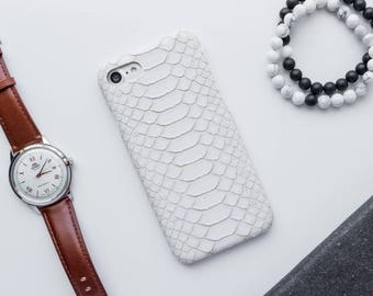 White Faux Alligator iPhone Case iPhone 8 Case iPhone 8 Plus Case iPhone 7 Case iPhone 7 Plus Case iPhone 6s Case iPhone 6s Plus Case Snake