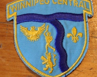 Vintage Winnipeg Central Canada Sew On Patch !