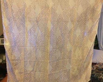"SALE Vintage Reine Seide Sheer Silk Scarf 40"""