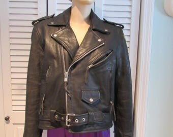 "Black Leather Motorcycle Jacket from the 1994 movie "" Blown Away """