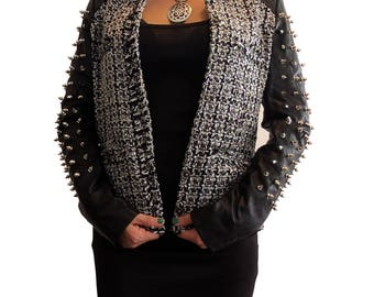 Spiked Cropped Jacket